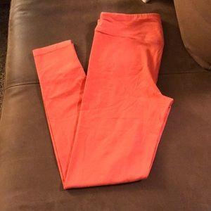 Victoria's Secret medium orange leggings